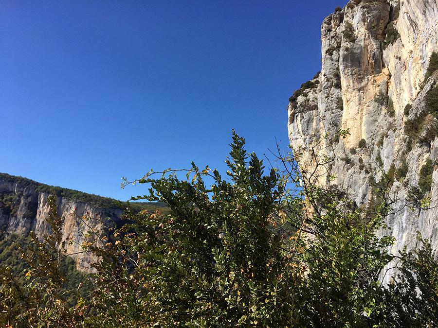 Falaise d'Anse, site d'escalade d'Omblèze