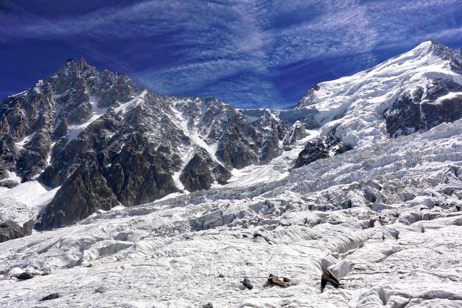 Jonction entre les glaciers des Bossons et du Taconnaz - Chamonix Mont Blanc