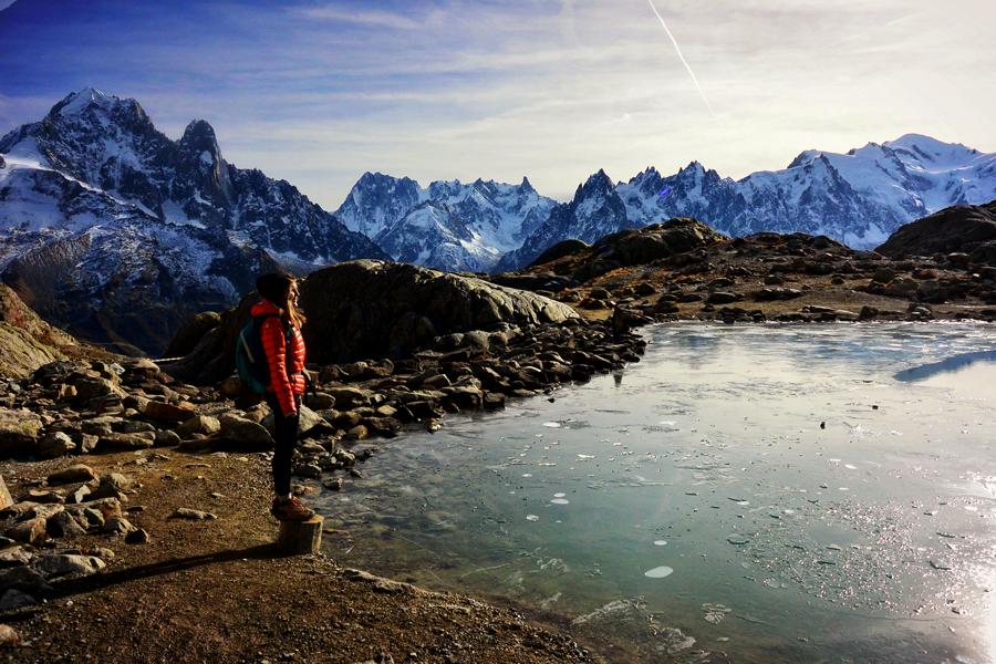Vue sur la Chaîne du Mont Blanc - Lac Blanc