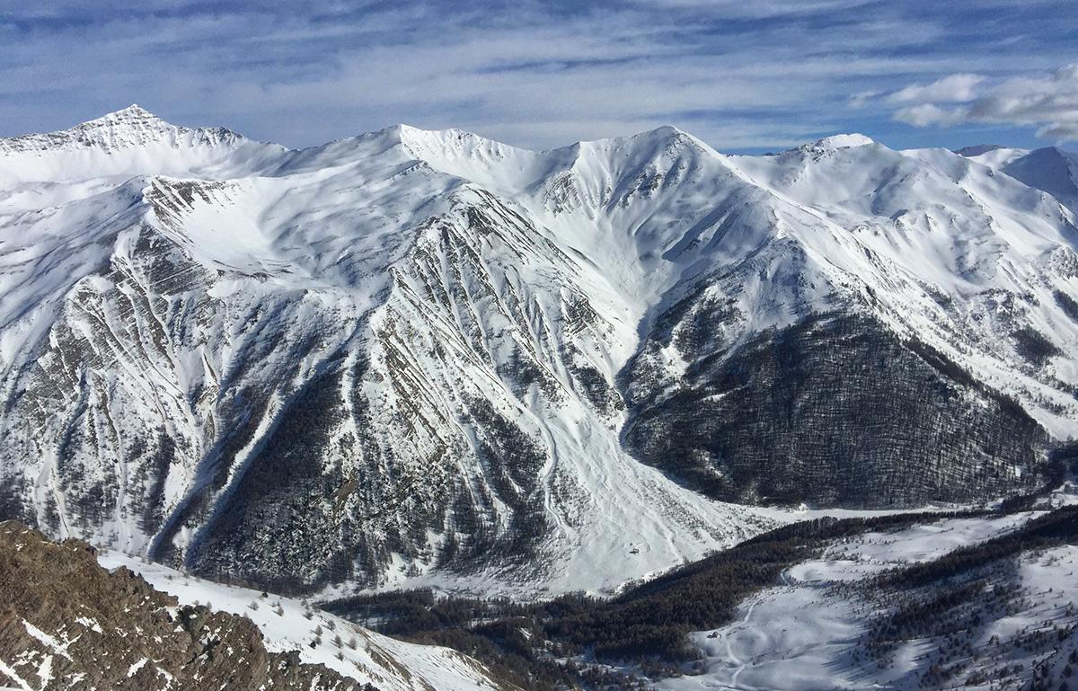 Vue sur le massif des Ecrins - Ski de randonnée