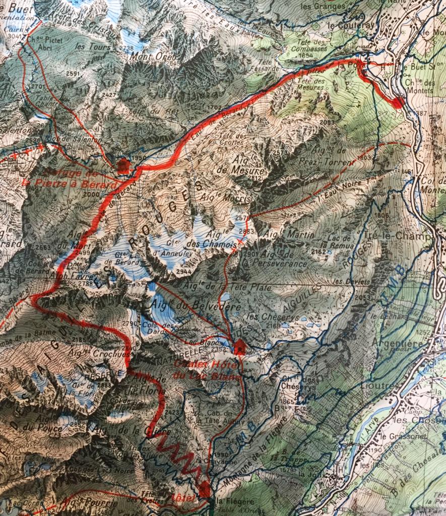 Trace de la traversée des Aiguilles Rouges - Virée Verticale