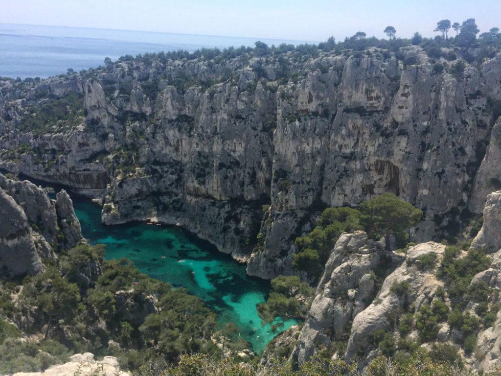 Les eaux turquoises d'En-Vau, Virée Verticale