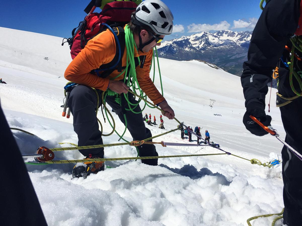 Mouflage mariner double sur le glacier de la Girose, Virée Verticale