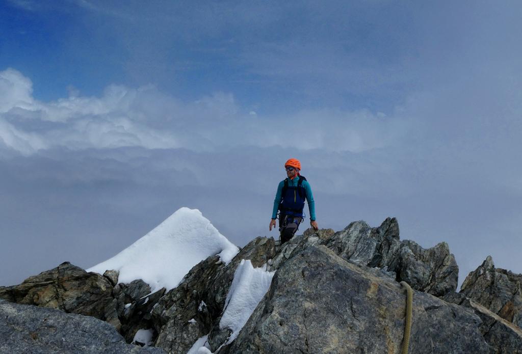 Stan au sommet du Breithorn central, Virée Verticale