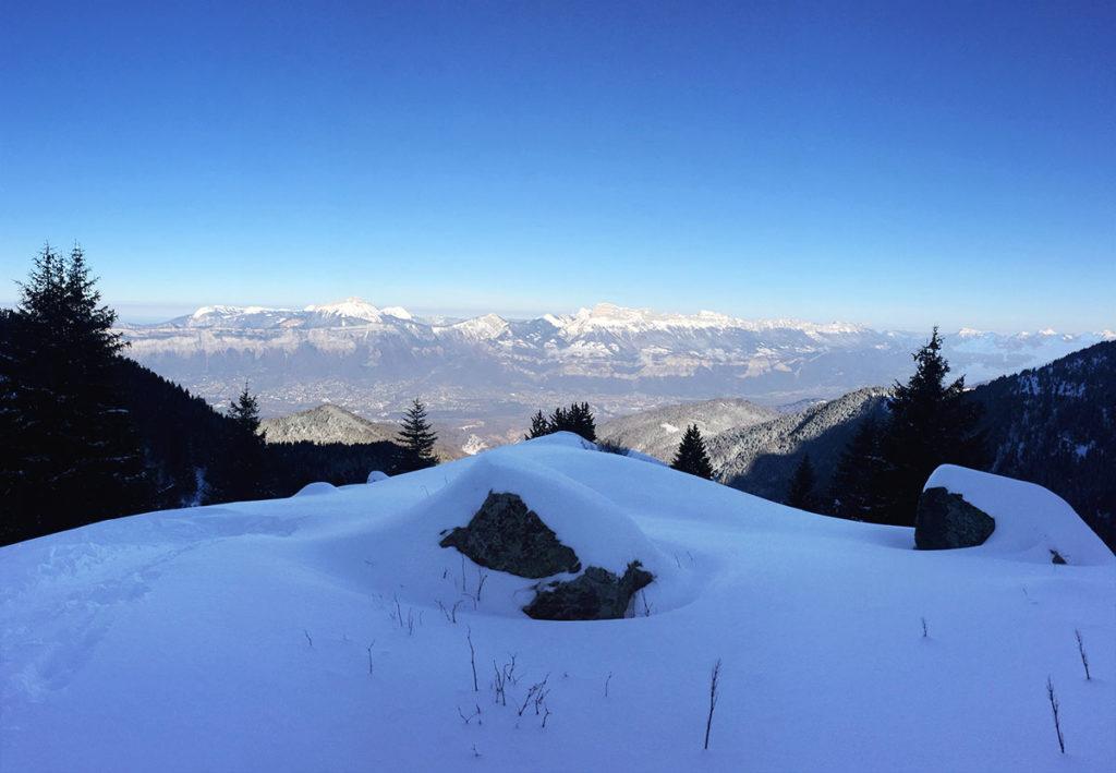 Vue sur le Massif de la Chartreuse à la montée, Virée Verticale