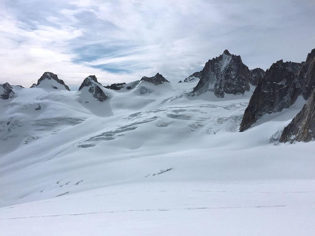 De l'autre côté de la Vallée Blanche, les alpes italiennes, Virée Verticale