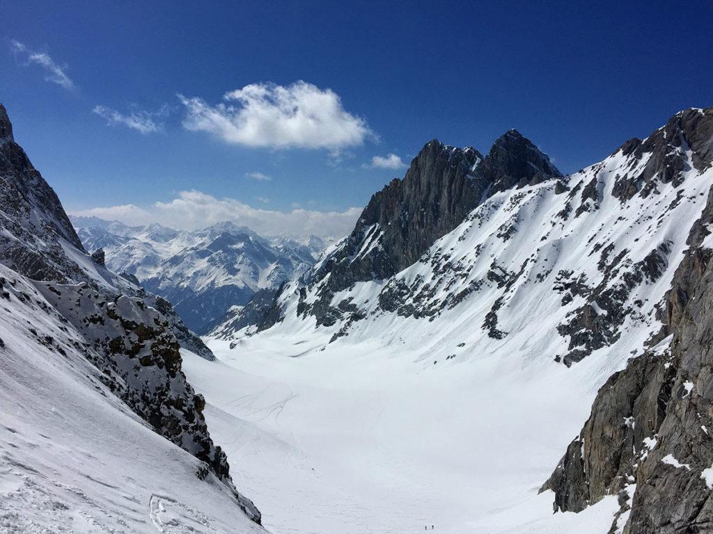 Vue sur la petite et la grande Glière, du Col de la Grande Casse - Virée Verticale